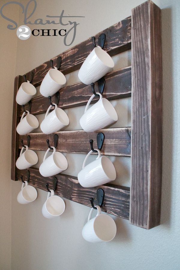 DIY Coffee Mug Display