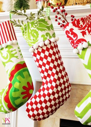 DIY Cuffed Christmas Stockings! Try these adorable stockings for your house. #DI...