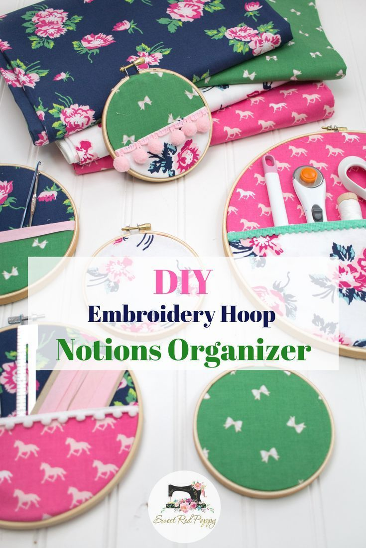 DIY Embroidery Hoop Hanging Wall Organizer #embroideryhoopart #embroideryhoop #n...