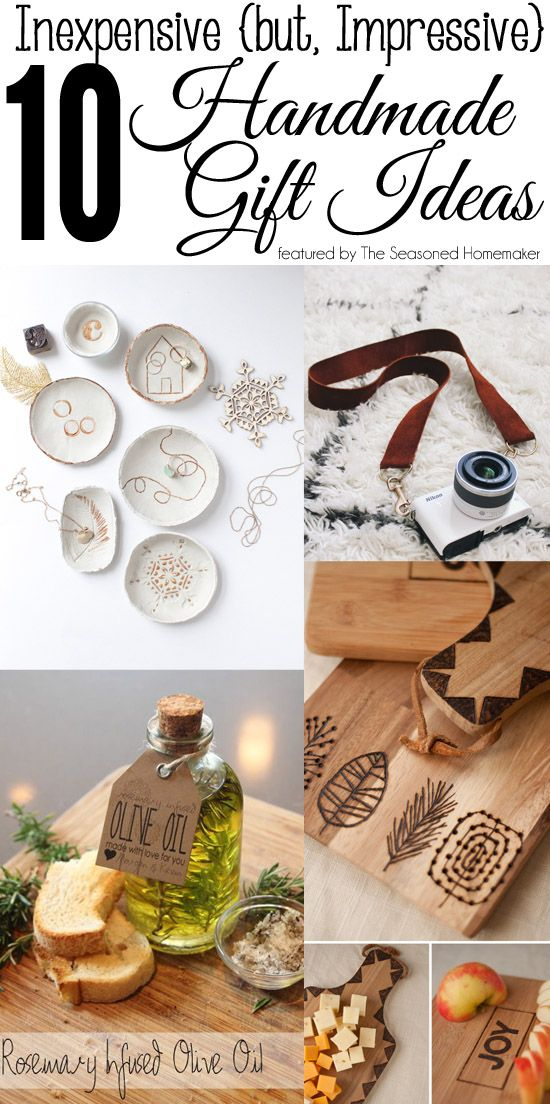 DIY Inexpensive Holiday Gift Ideas that don't look homemade. These are popul...
