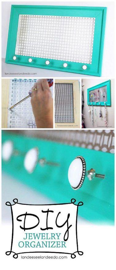 DIY Jewelry Organizer - Step by Step Tutorial to make your own pretty decorative...