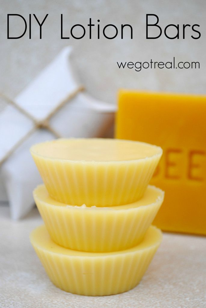 DIY Lotion Bars.  Easy and effective on dry skin.