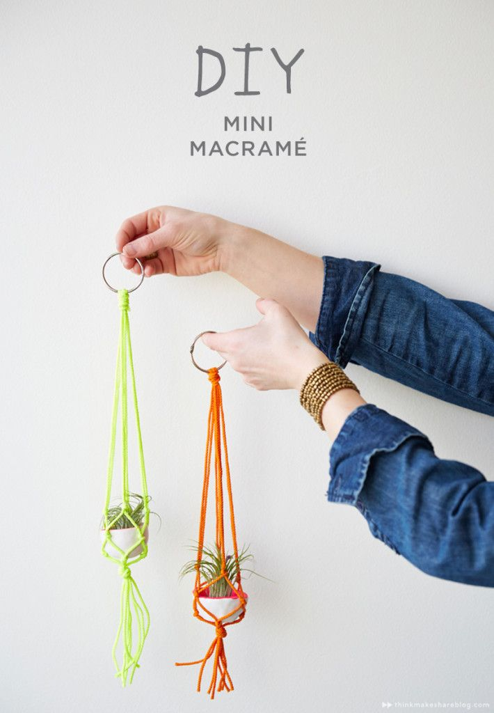 DIY Mini Macrame Hangers from Hallmark   thinkmakeshareblog