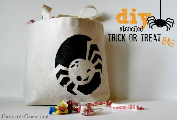 DIY Trick or Treat Bag! So fun and easy that you will want to make a new one eve...