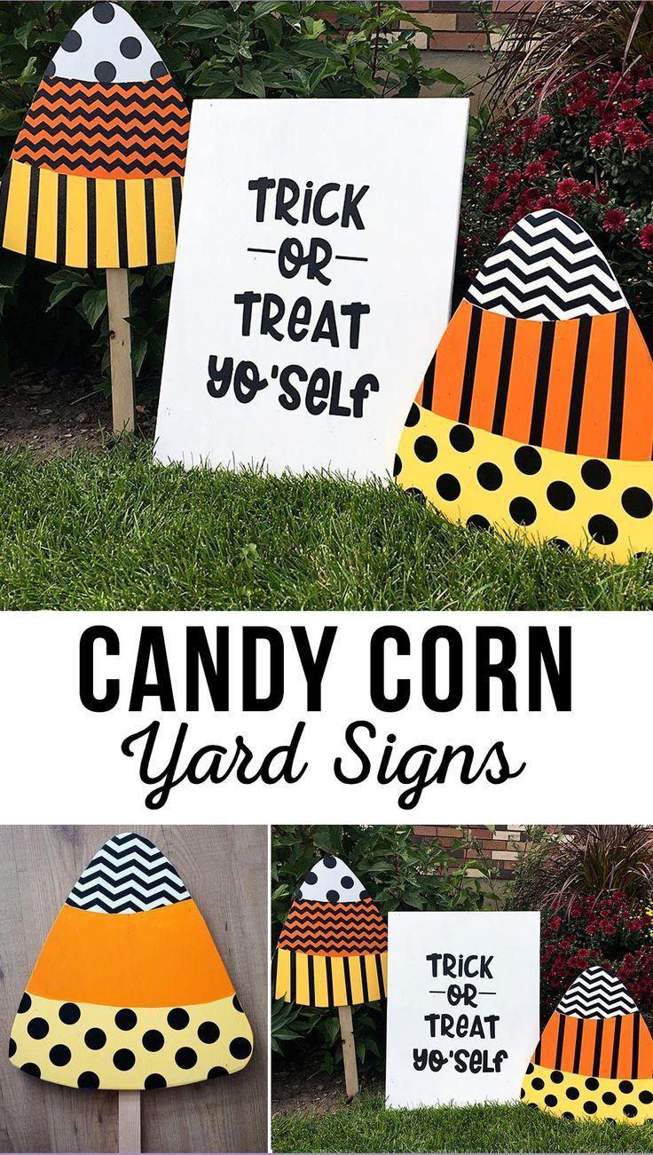 DIY Trick or Treat Yo'Self Halloween Yard Sign