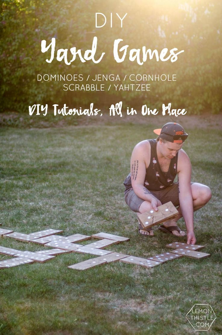 DIY Yard Games- I love this! I've seen Jenga but it's so much fun to hav...