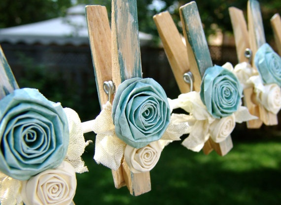 Decorated Clothes Pins.