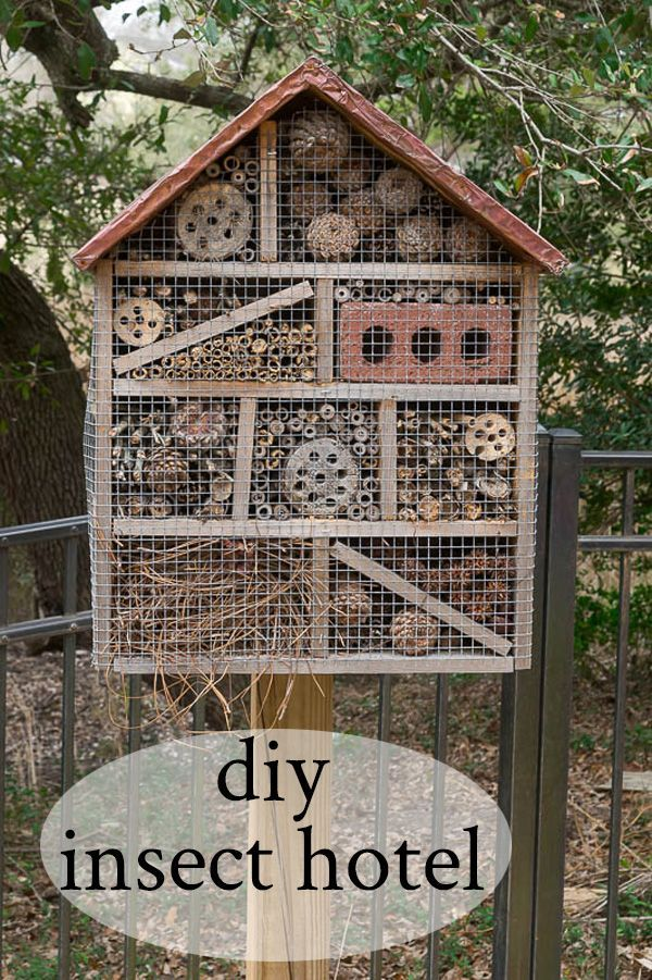 Diy Crafts Easy To Make Insect Hotel To House And Help Foster