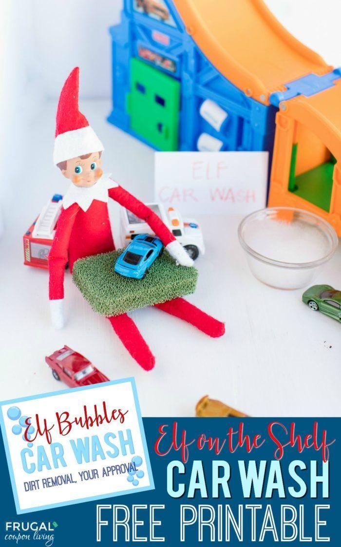 Diy Crafts Elf Car Wash Free Elf On The Shelf Printable Easy