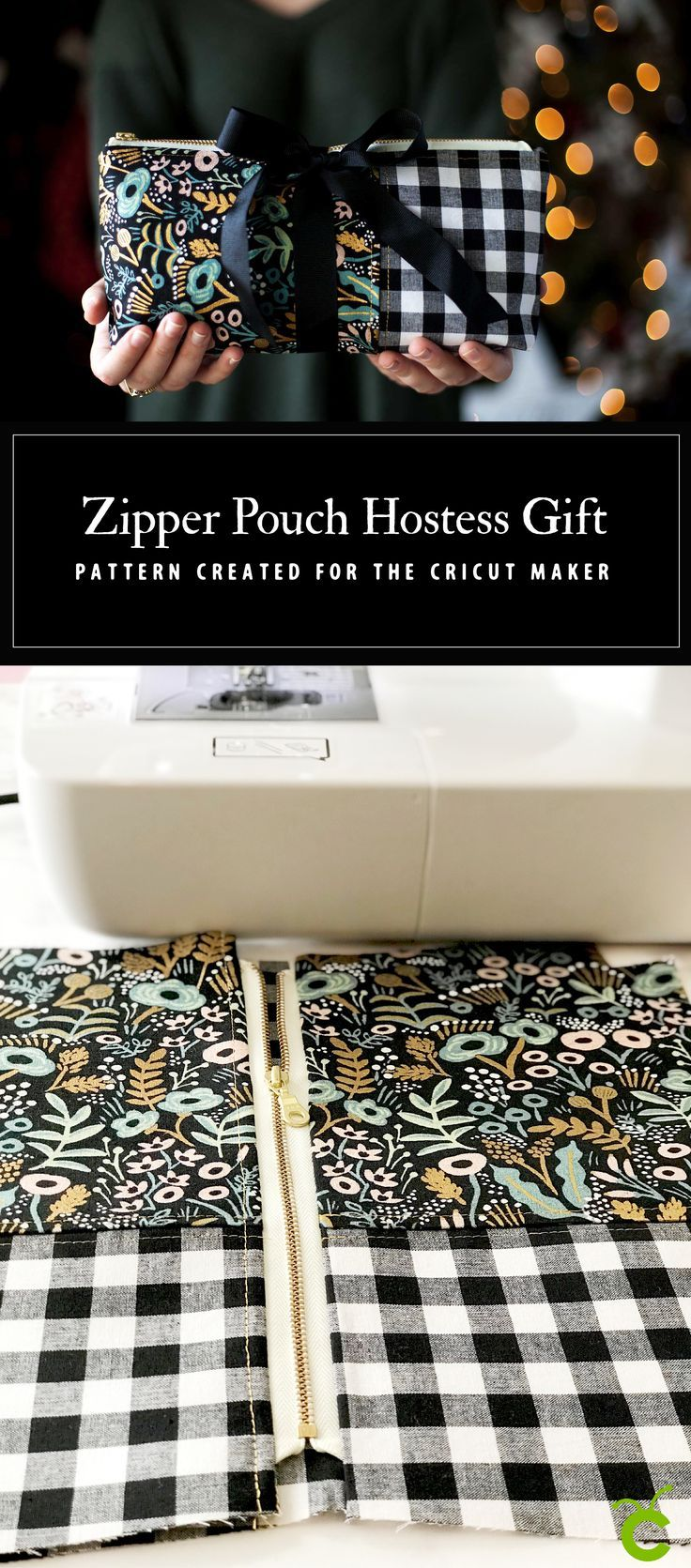 Everyone loves thoughtful homemade gifts and this stylish zipper pouch is the pe...