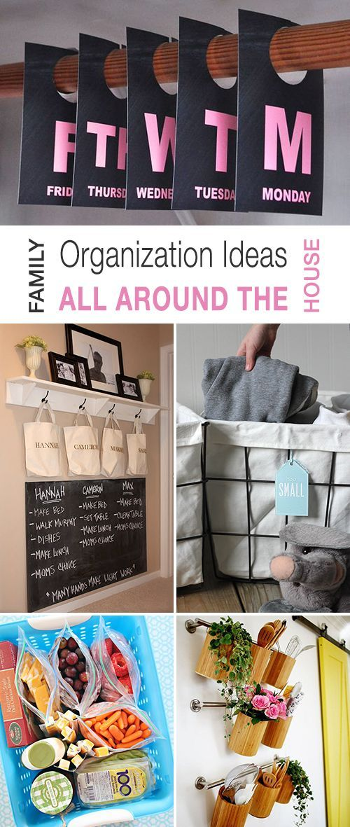 Family Organization Ideas All Around The House! • Explore this blog post and d...