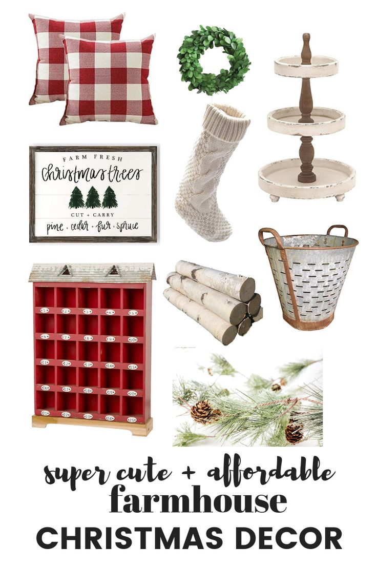 Farmhouse Christmas Decor | Farmhouse Style #farmhousestyle #farmhousestylechris...