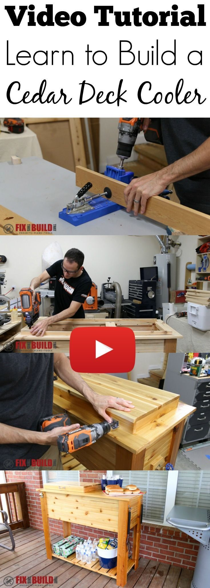 Full video build tutorial on how to build a Cedar Deck Cooler.  This ice box wil...
