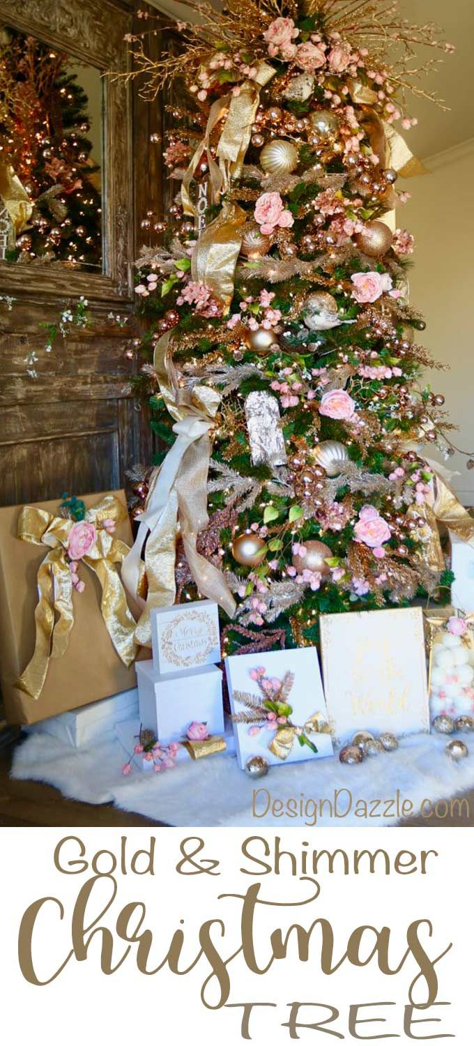 Diy Crafts Gold Metallics Floral Christmas Tree By Michaels Maker