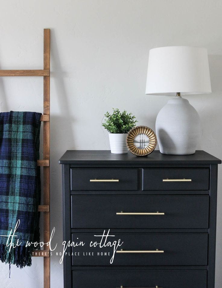 Guest Bedroom Dresser Makeover by The Wood Grain Cottage