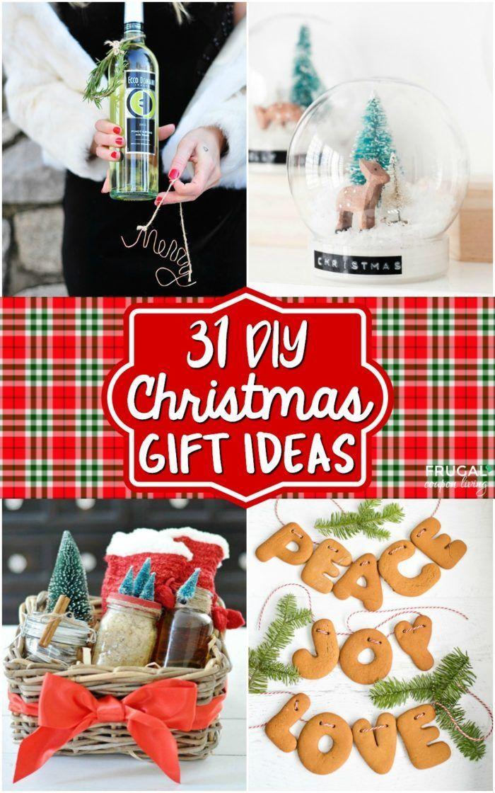 Homemade Christmas Gift Ideas and DIY Christmas Crafts to Gift this season. #Fru...