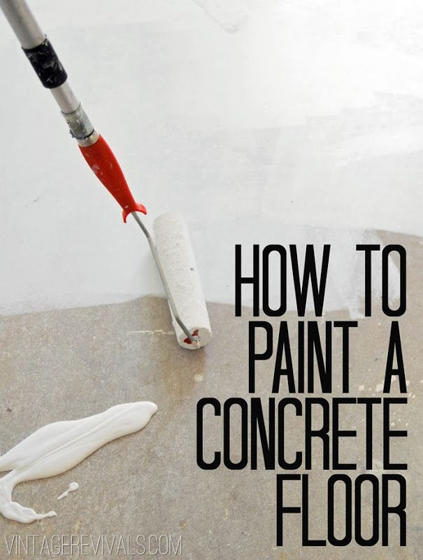How To Paint Concrete (Plus A Secret Cleaning Tip!)