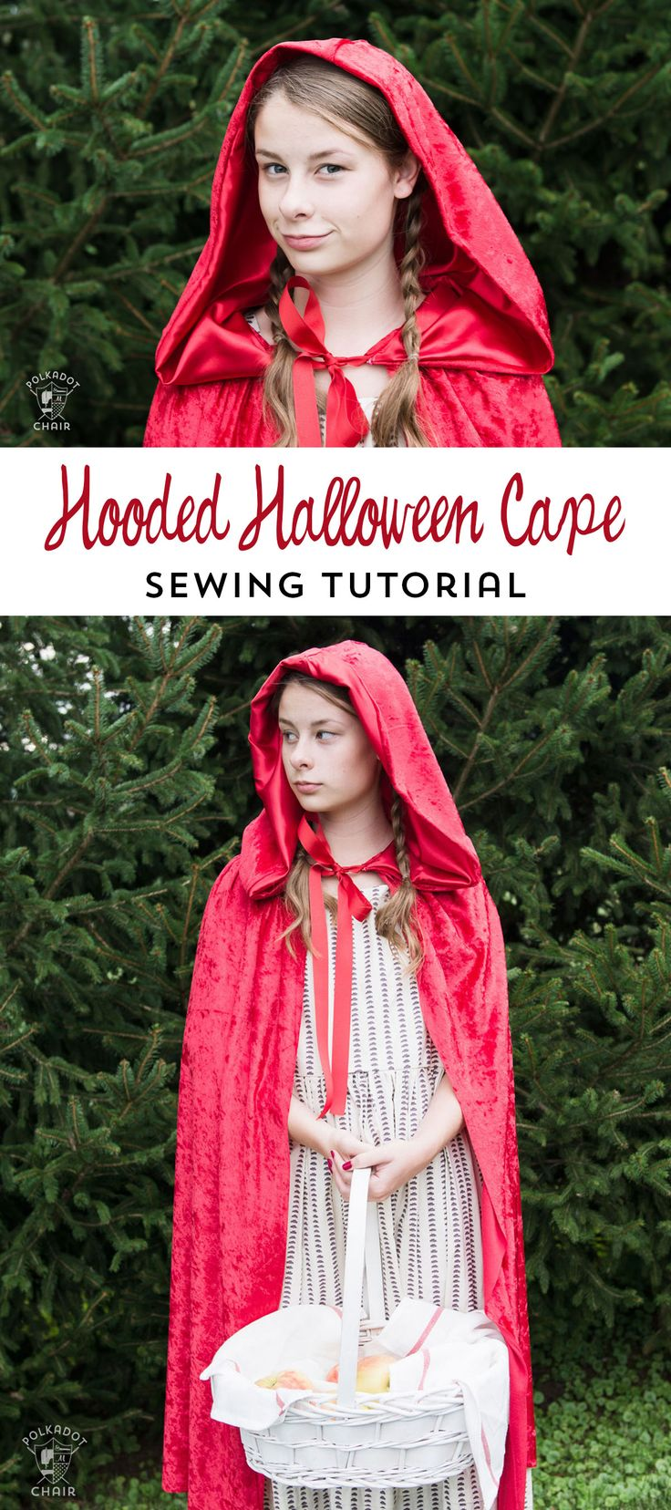 How to make a hooded cape for Halloween - tutorial teaches you how to resize it ...