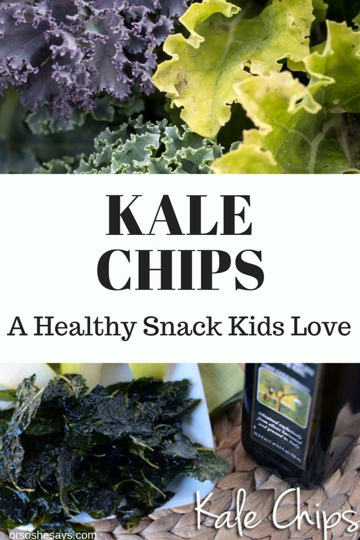 Kale Chips ~ Kids Love Them! www.oneshetwohse.com #kale #kalechips #healthysnack...