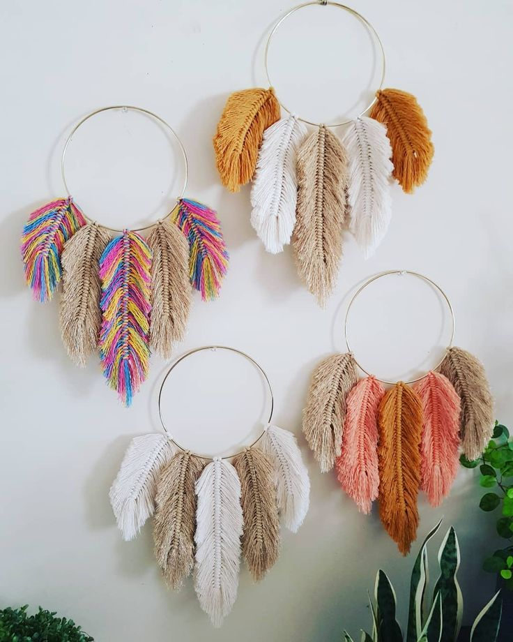 Diy Crafts Lovely Diy Inspiration Feathers From Yarn Diy