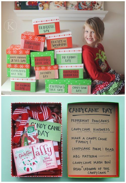 Make 12 Days of Christmas Boxes  and 25 Christmas Traditions to Start Right Now....