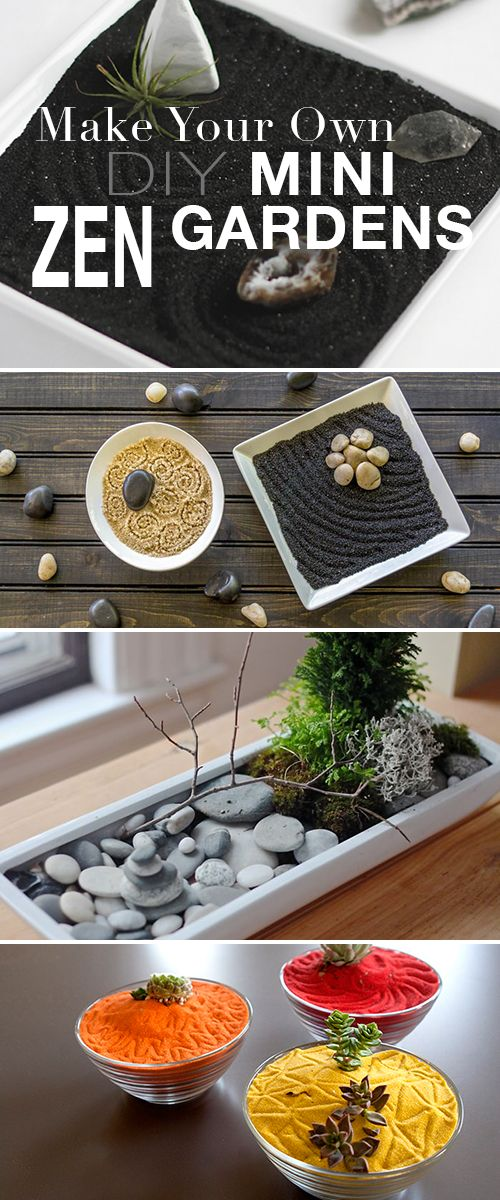 Make Your Own • DIY Mini Zen Gardens! • Check out these beautiful and relaxi...