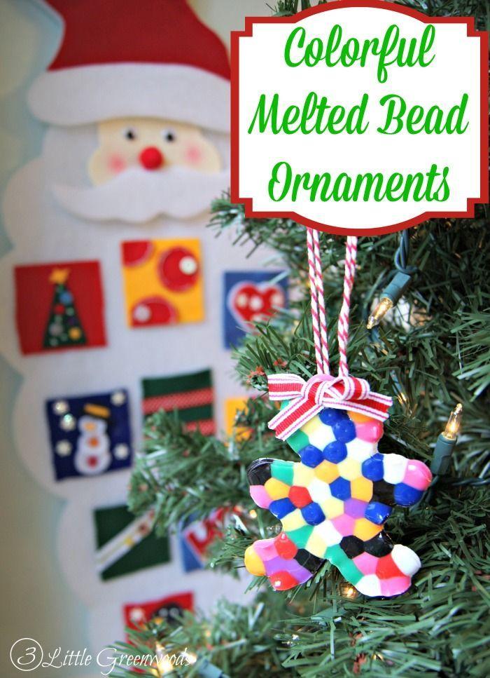 Melted Bead Christmas Ornament www.3littlegreenw...