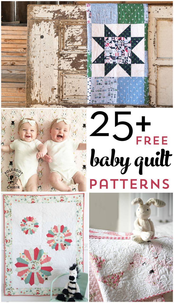 More than 25 free baby quilt patterns. Learn how to make a baby quilt with one o...
