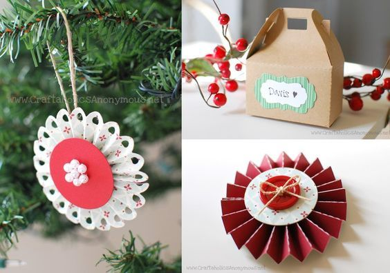 Paper crafts always give off the best look. Your Christmas tree and gifts will l...