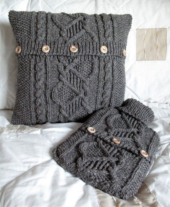 Perfect use for old sweaters.