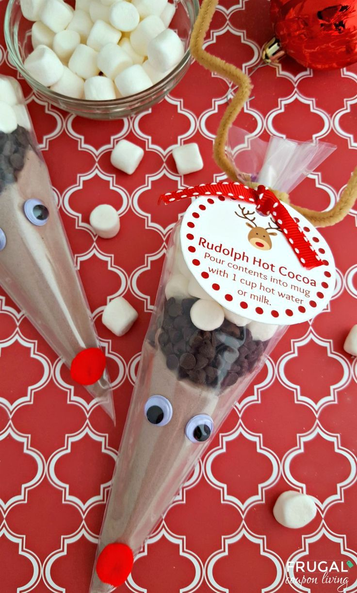 Christmas Gift Ideas For Kids Diy.Diy Crafts Reindeer Hot Cocoa With Printable Christmas