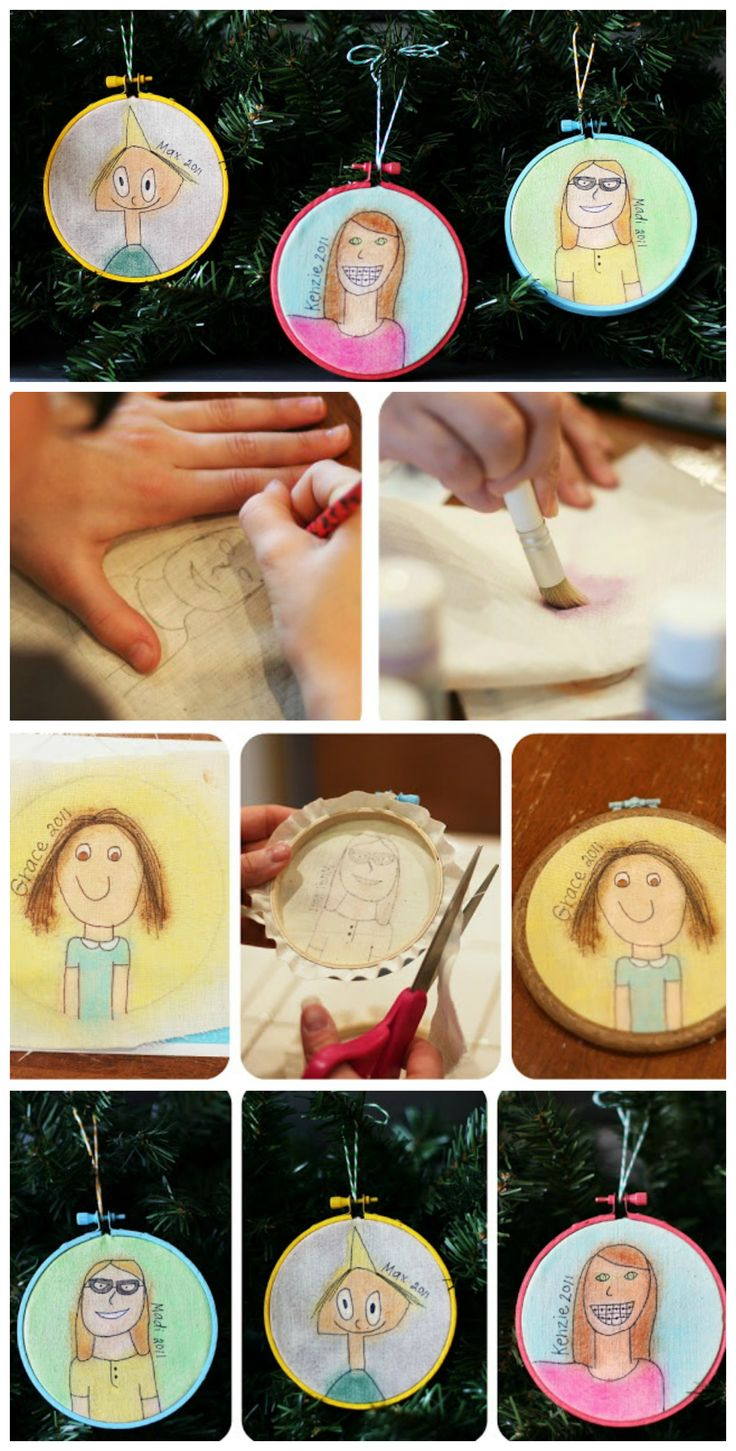 Self Portrait Ornaments The Kids Can Make   The cutest ornaments ever!