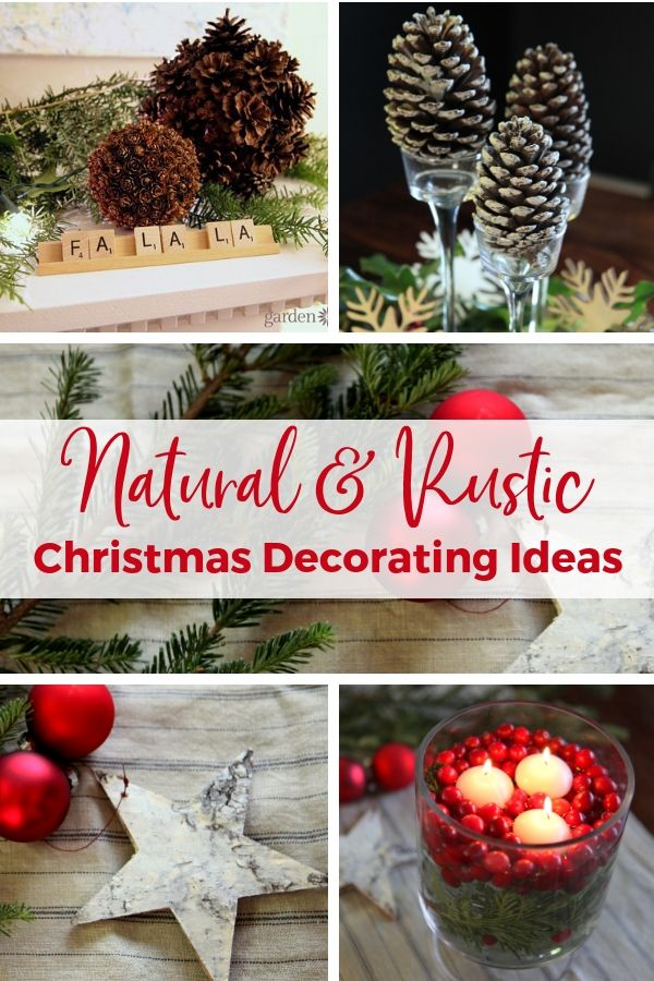 Diy Crafts Simple Christmas Decorations Using Natural And Rustic