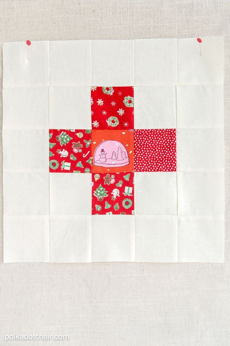 Diy Crafts Simple Plus Quilt Block Stitched Up In Christmas