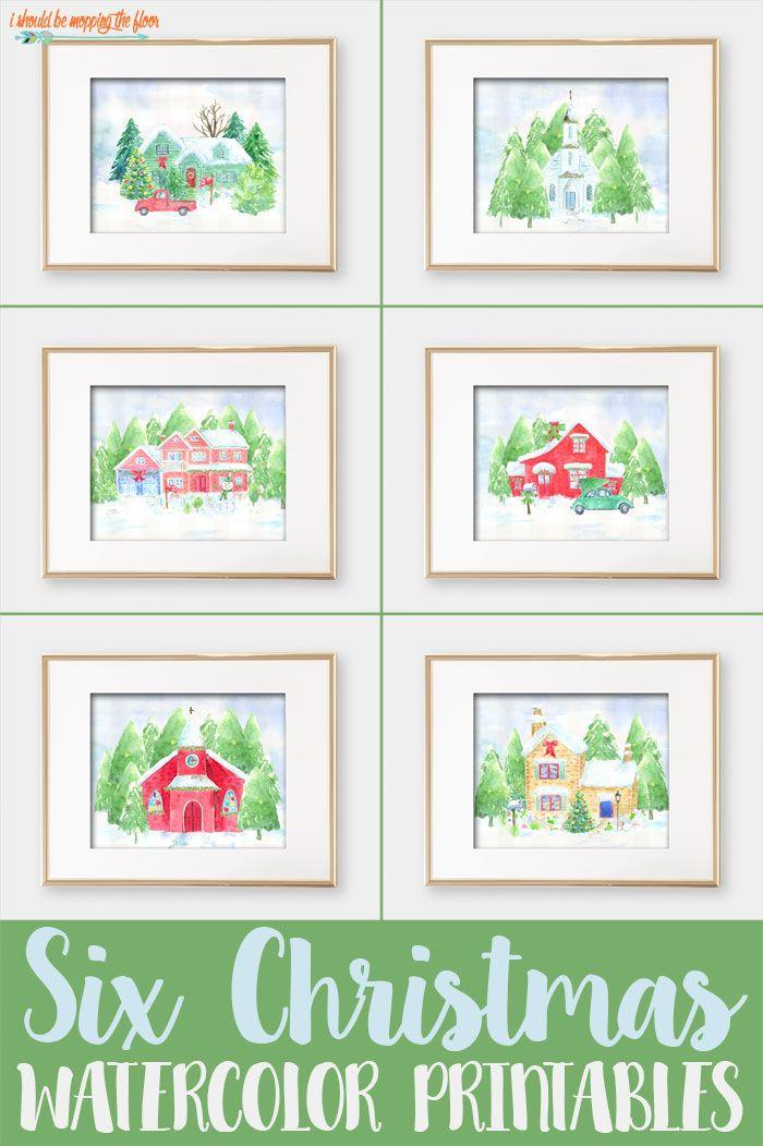 Six Home for Christmas Printables