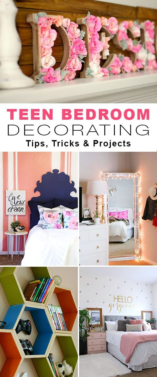 Teen Bedroom Decorating • Tips, Tricks & Projects for adding decorating style ...