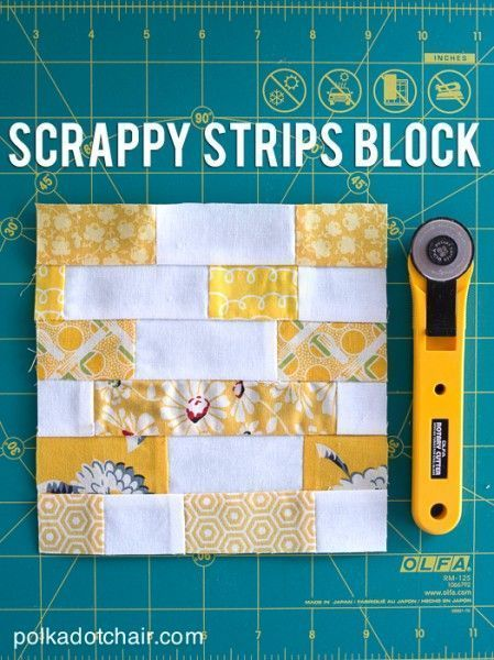 The perfect scrap buster and great for beginners. Check out the final quilt top!...
