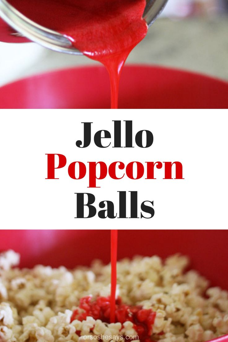 These jello popcorn balls are super fun to make with the kids and they taste yum...