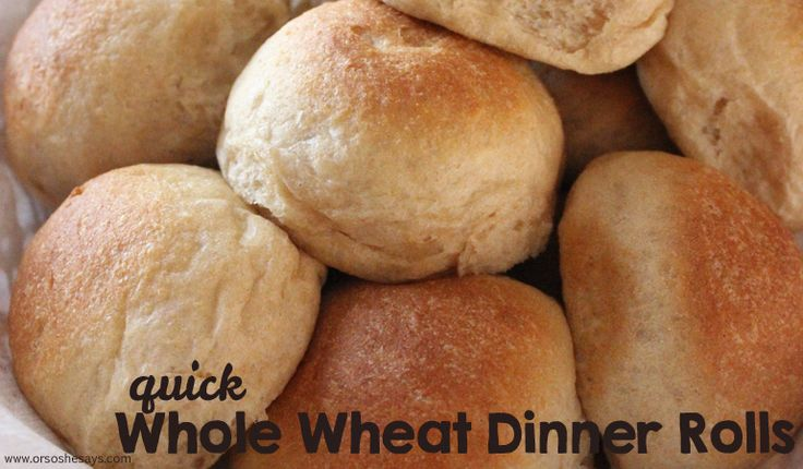 These quick dinner rolls cut out the first rise on the dough and are ready in un...