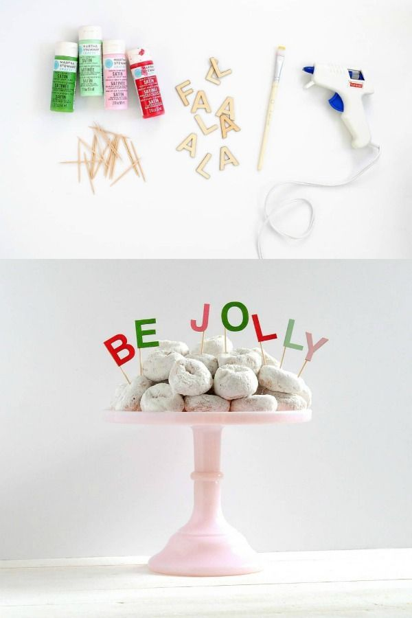 This simple cake topper project adds the perfect, colorful touch to a holiday pa...