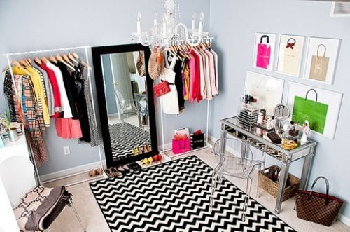 Turning a spare bedroom into a closet.