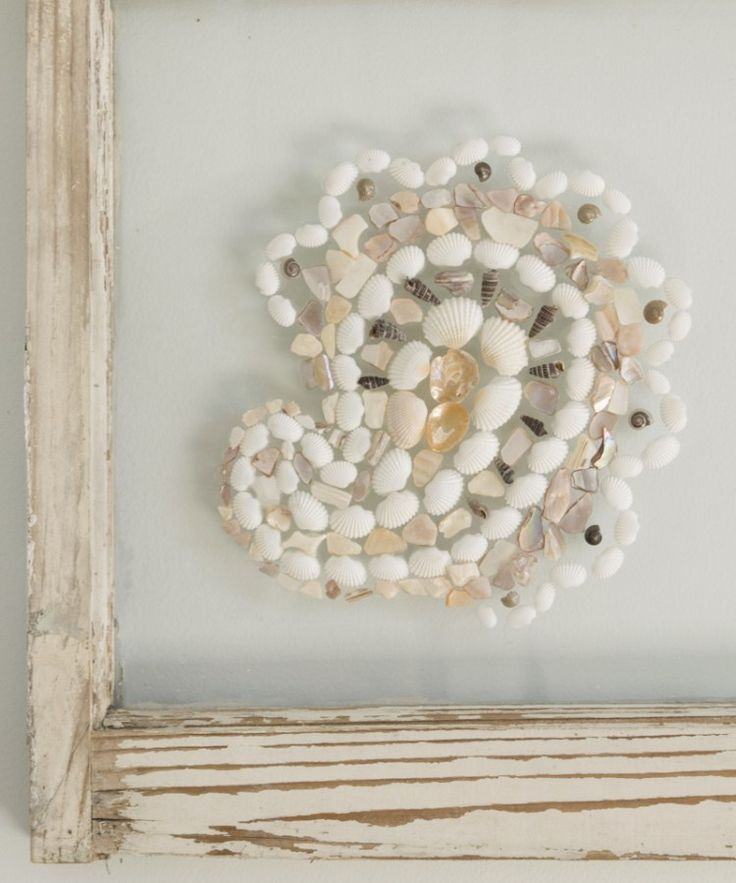 Use an upcycled window frame to make art. An easy DIY project for your home deco...