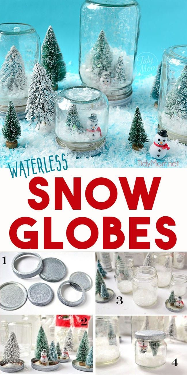 Waterless snow globes are fun to shake, don't break and so easy to make, even a ...