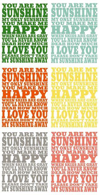 You Are My Sunshine Print - Eighteen25