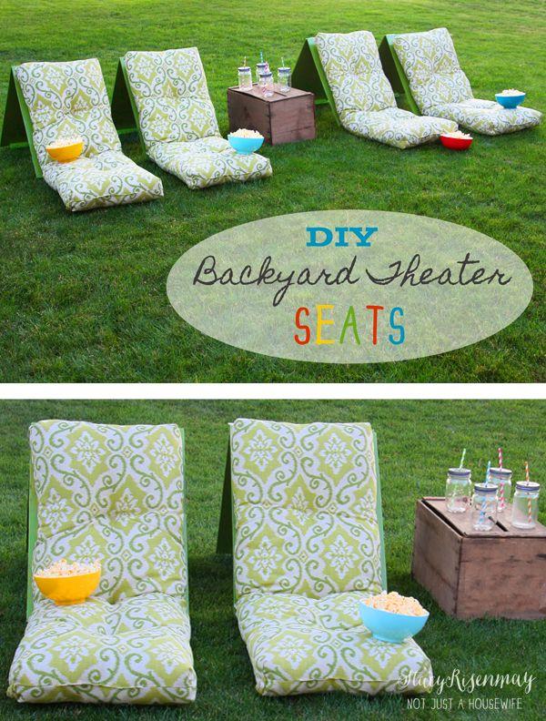 diy backyard theater seats