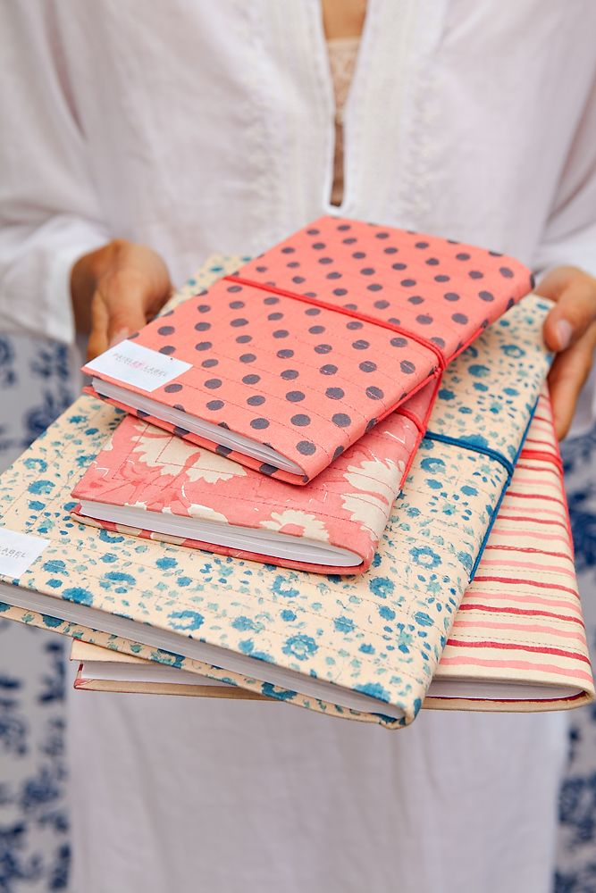 fabric covered journals | Kerry Cassill