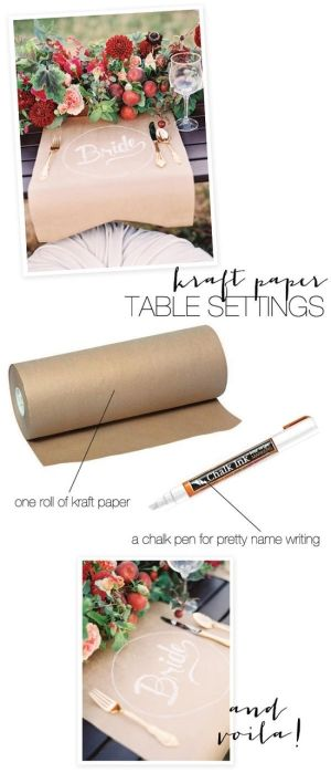 make your own Kraft Table Settings by norna