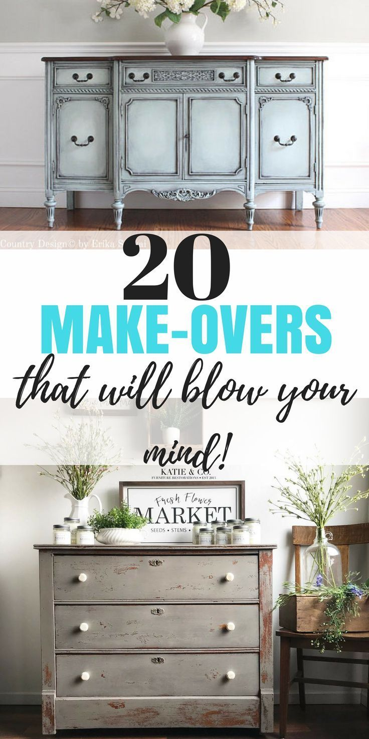 20 Make-overs that will blow your mind! The best furniture makeovers you will fi...