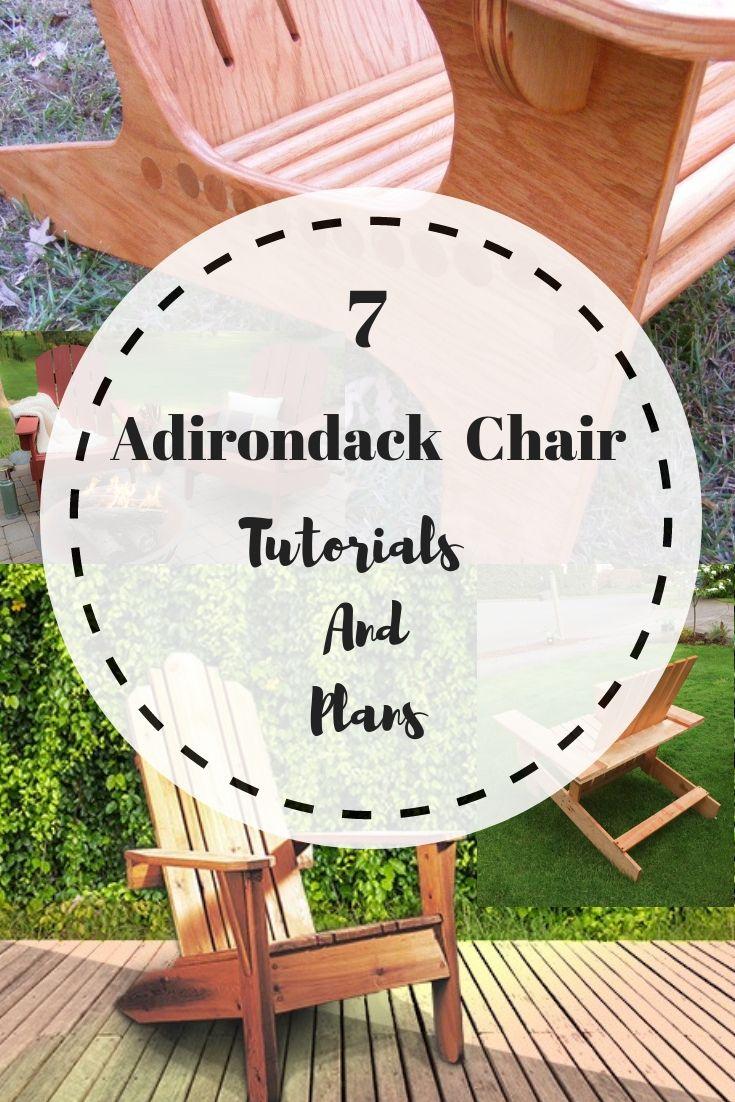 7 Adirondack Chair Plans and Tutorials