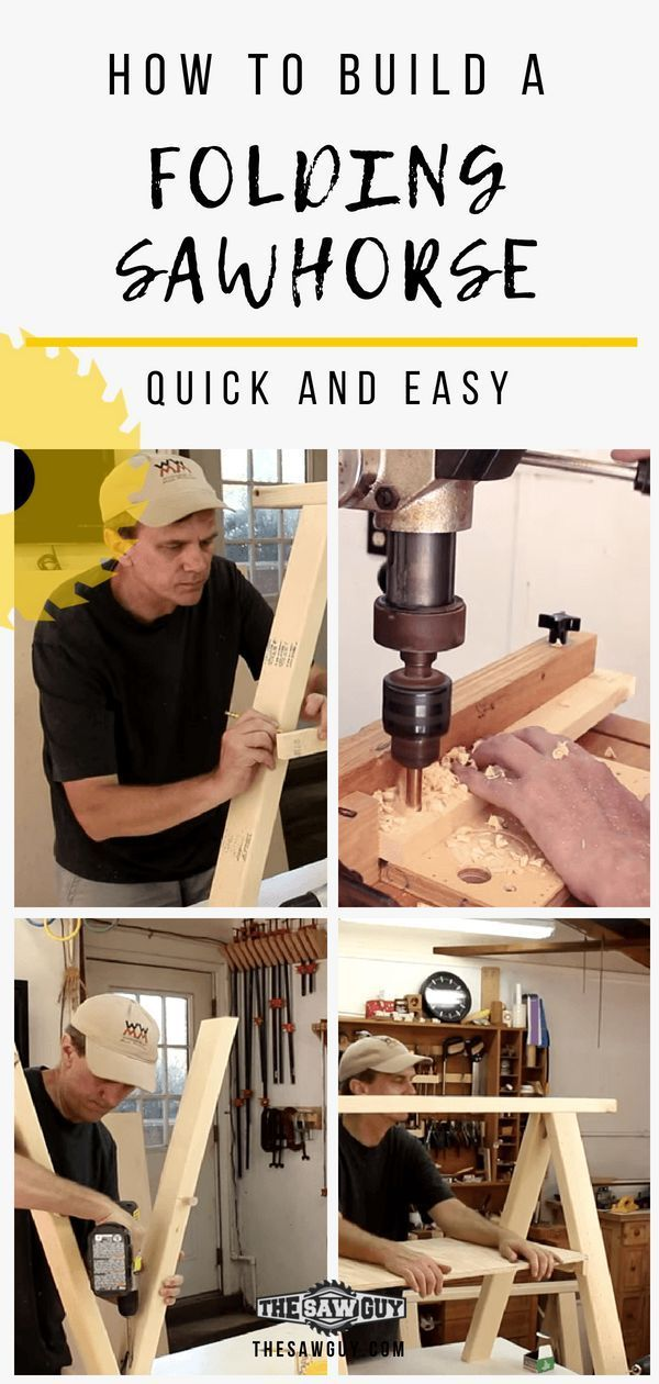 A good pair of sawhorses is essential for any serious and aspiring woodworker. W...